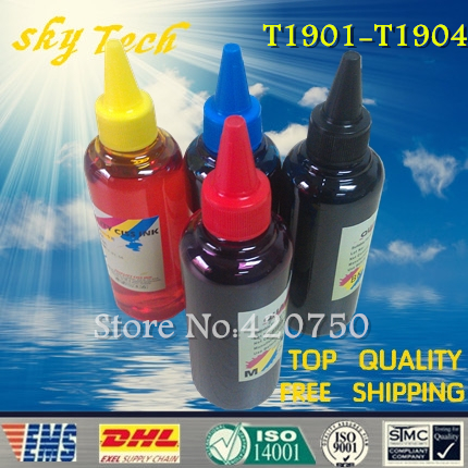 Dye refill ink Suit for Epson T1901-T1904 Cartridges ,suit for Epson me401 me303 me301. specialized ink dye refill ink suit for epson t5846 cartridges suit for epson pm280 pm200 pm240 pm290 pm225 specialized ink