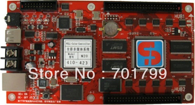 full color RGB Asynchronous LED video display control card,support LAN/Internet/3G/RF/GPRS