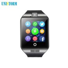 Envío libre Q18 Pasómetro Smartwatch reloj inteligente con Pantalla Táctil de la cámara TF tarjeta Bluetooth smartwatch DZ09 pk