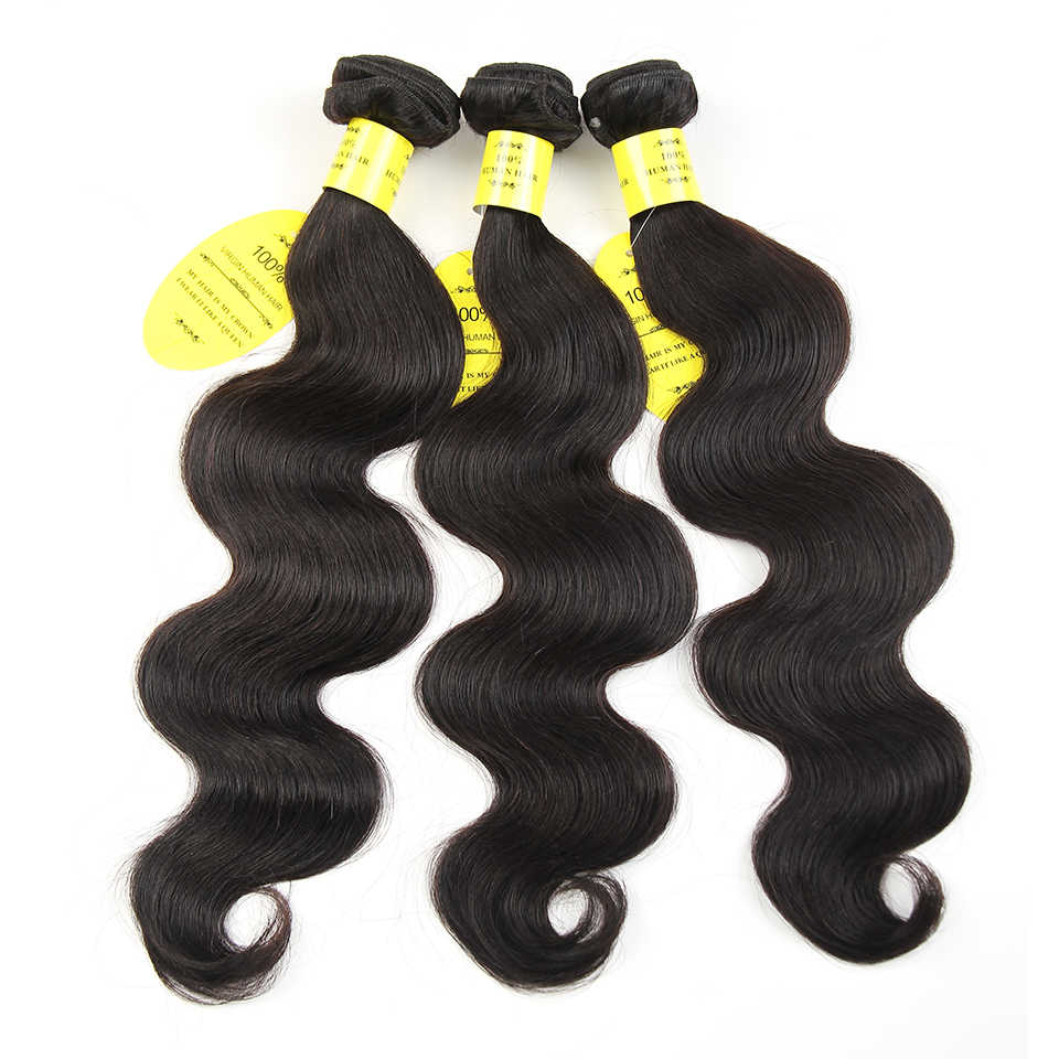 QueenLike Hair Products Brazilian Hair Weave Bundles 100% Human Hair Bundles Non Remy 3 Bundles Brazilian Body Wave