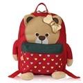 Los niños de Estilo Coreano Lindo Oso Bolsas de la Escuela niños Mochila Niñas Bolsa de Kindergarten Mochila de Dibujos Animados Animales Arco Rojo Bolsa de Libros