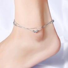 Двойная звезда лодыжки двойная цепь ананас Кулон ножной браслет