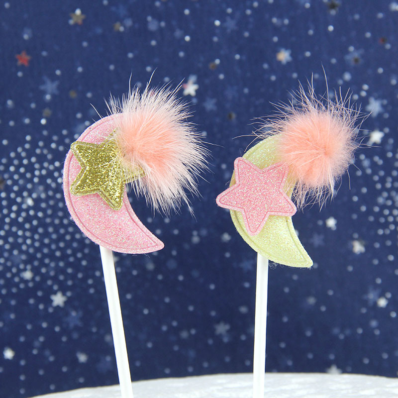 Cake Flags Cupcake Cake Topper Angel Wings Moon Toppers Bride Kids Birthday Wedding Bridal Cake Wrapper Party Baking DIY Flags in Cake Decorating Supplies from Home Garden