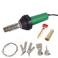 Professional Heat Gun 1600w 110V Plastic Welder Hot Air Gun Hot Air Plastic Welder Welding Torch Tool Kit + 4pcs Nozzles