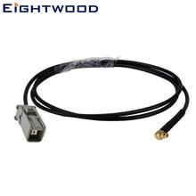 Eightwood Автомобильный gps антенный Кабель-адаптер 30 см кабель в сборе Перемычка MMCX Мужской правый угол к часам GT5 1S для JVC Pioneer sony