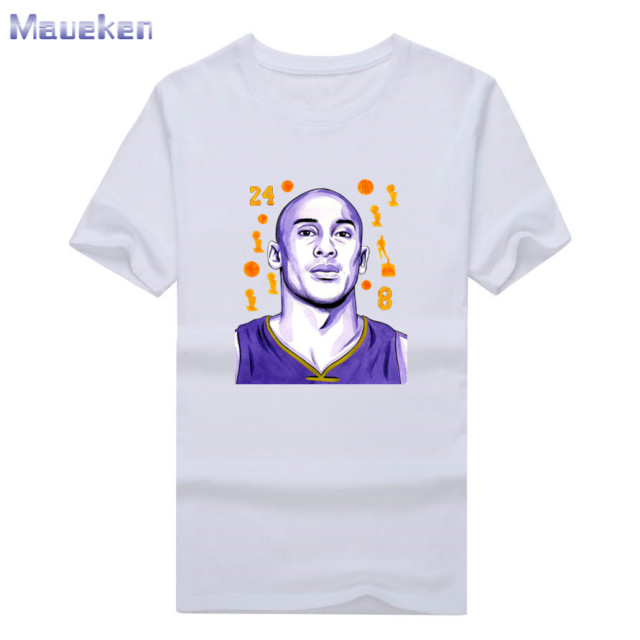 3dc13bee 2018 Kobe Bryant black Mamba 24 8 T Shirt 100% cotton tee short sleeve for  fans gift all champions T-shirt 0709-10