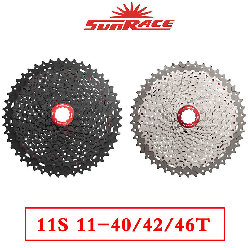 SunRace Bicycle Freewheel CSMX8 11-40/42/46T 11 Speed Mountain Bicycle Cassette Tool Wide Ratio MTB Freewheel Bike Part image