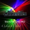 4 объектив 4 цвет RGVY лазерного света дискотека DJ оборудования сценического освещения