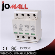 LBO 4P 20KA~40KA C ~385VAC House Surge Protector protection Protective Low-voltage Arrester Device цена в Москве и Питере