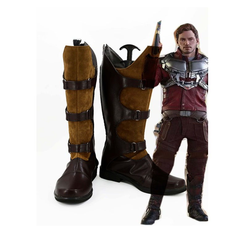 Guardians of the Galaxy Star Lord Peter Jason Quill Cosplay Shoes Boots Custom-Made Halloween Carnival Shoes