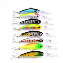Laser Sinking Slowly Minnow Fishing Lure 10.1CM 7.5G Wobbler Artificial Fly Fishing Hard Bait Carp Crankbait  Tackle 1PCS FA-209