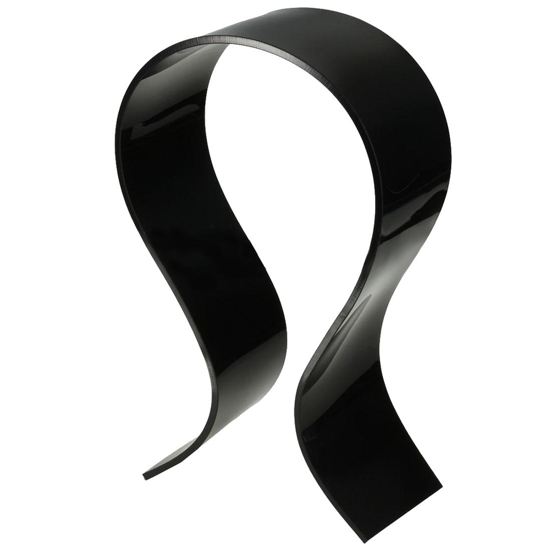Acrylic U-type Headphone Headset Holder Desk Stand Display Hanger Rack Shelf, Black