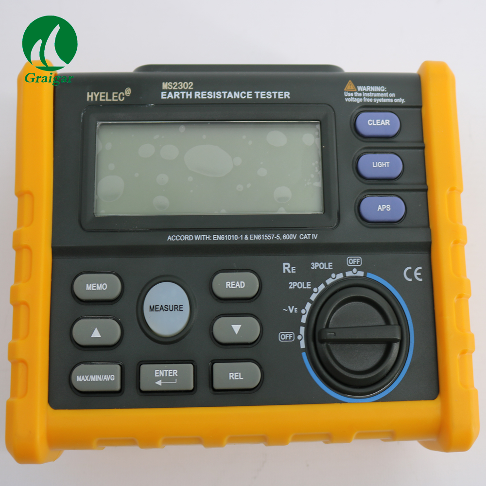 MS2302 Digital Earth Ground Resistance Tester Meter 0 ohm--4000 ohm цена