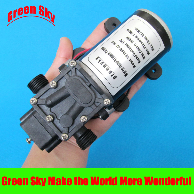 160PSI 8L/Min 100W car washing,medical,chemical equipment,lawn and garden irrigation use dc 12v micro diaphragm pump 160psi 8l min dc 100w water diaphragm pump 24v