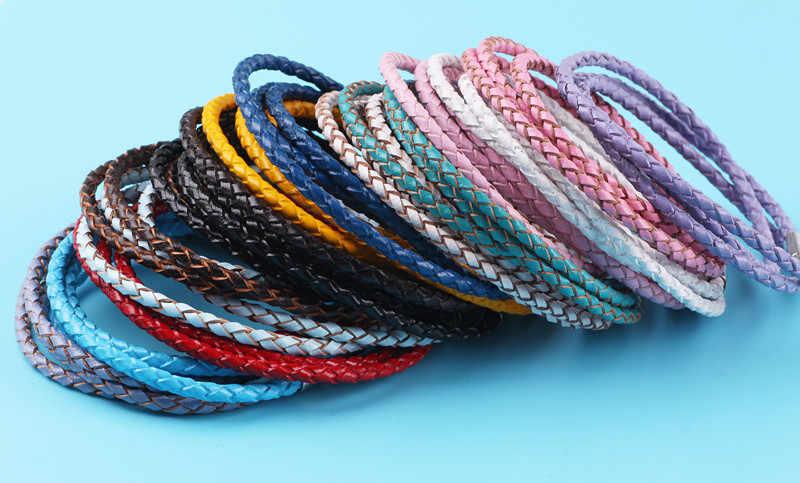 Dodocharms แฟชั่น 15 สีสำหรับผู้หญิง Charm ลูกปัด DIY สร้อยข้อมือหนังผู้ชายสามชั้นเครื่องประดับ