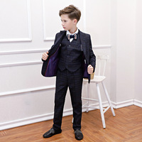 2019 Children's Suit, Small Suit, Cool Boy's Dress, Five Sets of British Style boy's New Autumn/winter Piano Clothes RKS194016