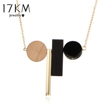 17KM Fashion Minimalist Geometric Ethnic Tassel Statement Choker Necklace Women Rope Black White Wood Beads Brand Maxi Jewelry(China)