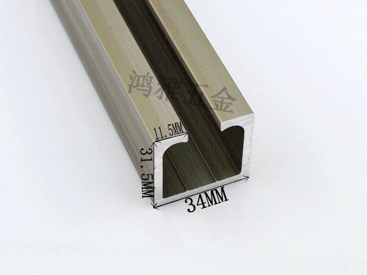 Thick Sliding Door Rail / Glass Door Hanging Rail / Track / Sliding Door  Groove / Aluminum Hanging / Sliding Door Wheel Rail 10C In Cabinet Hinges  From Home ...