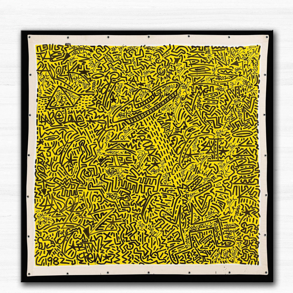 Printed UNTITLED [KEITH HARING AND LA 2] Oil Painting Canvas Prints ...