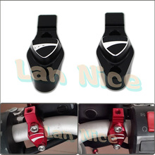 Motorcycle accessories For DUCATI MONSTER 796 696 695 3D LOGO Handlebar bar Clamp with Mirror adapter Black