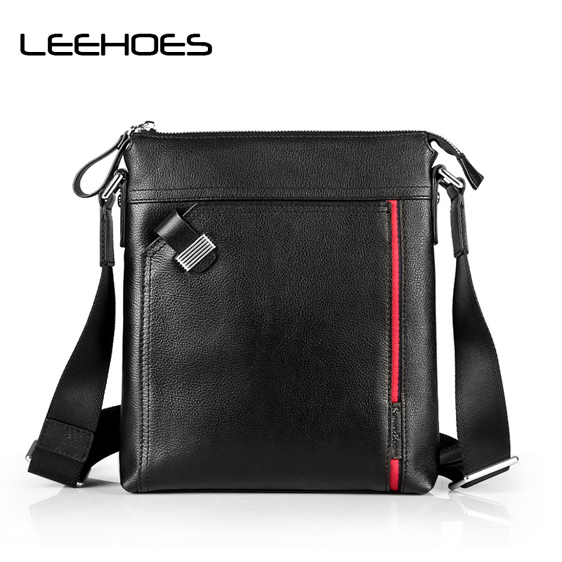 Men's Briefcase Cow Leather Waterproof Small Bag 100% Genuine Leather Men Bag Men Messenger Shoulder Bags Men's Crossbody Bags smart shine series modified sine wave inverter 1500w clm1500a dc 12v 24v to ac 110v 220v 1500w surge power 3000w