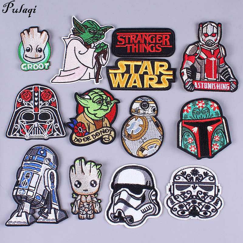 Pulaqi Diy Star Wars Patch Lencana Bordir Patch Thermo Stiker Menjahit Pakaian Stripes Di Pakaian Besi Di Ransel ikon H