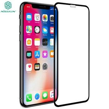 Tam vücut filmi yuvarlak kenar ekran koruyucular için iPhone X orijinal NILLKIN XD CP + MAX tam kapak temperli cam için iPhone XS