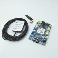 SIM808 Instead Of SIM908 Module GSM GPRS GPS Development Board IPX SMA With GPS Antenna For
