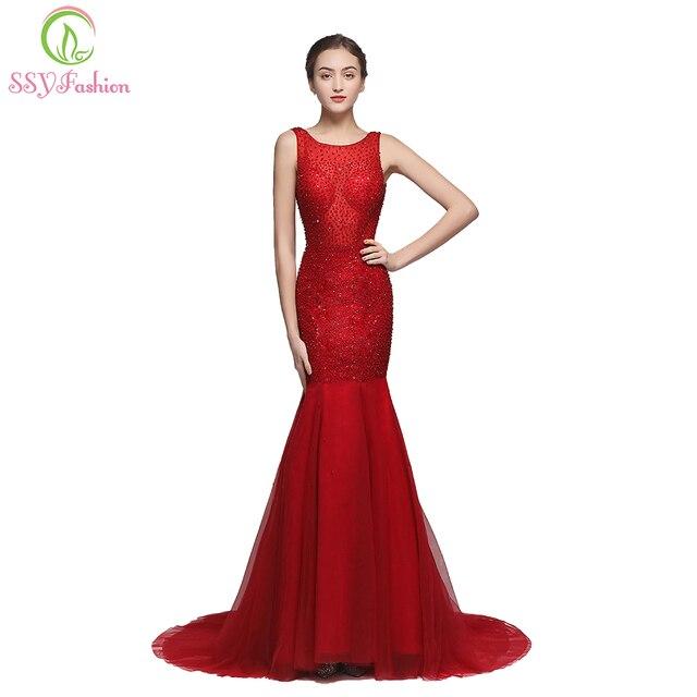 Aliexpress.com : Buy SSYFashion 2018 New High end Mermaid Prom ...