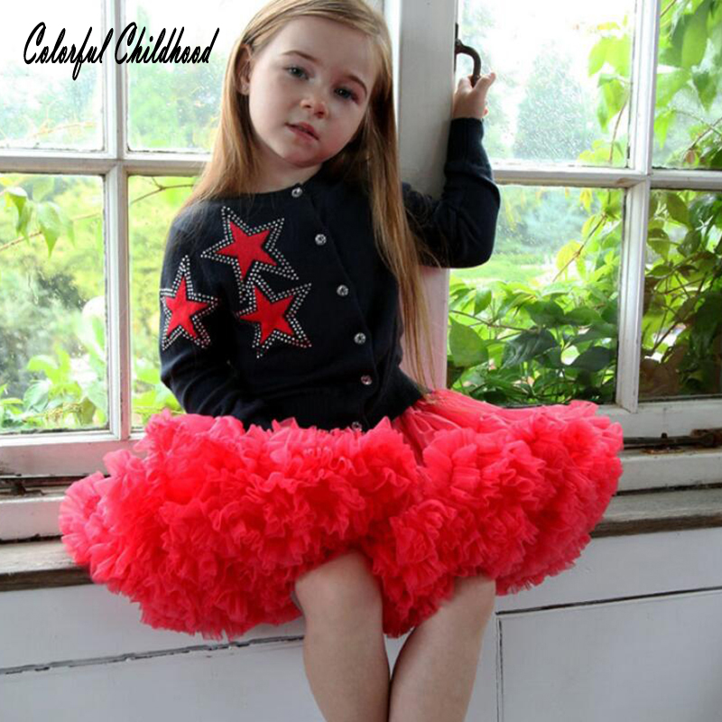 Kids clothes New Sweet Cute Mom and Daughter Two color Splice Tutu Skirt Children Performance Clothing