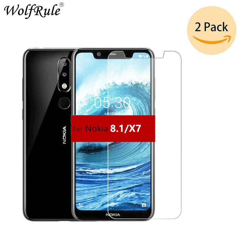 2PCS Screen Protector For Nokia 8.1 Glass Nokia 8.1 2018 Ultra Thin 9H Hardness Tempered Glass For Nokia 8.1 TA-1119 X7 Glass