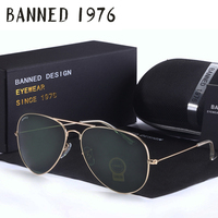JIGGY BABE G15 Mirror Glass Lens Design Women Men Sunglasses Top Uv400 Feminin Brand Aviation Oculos