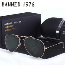 2017 Top quality G15 Glass lens designer brand Sunglasses women men vintage aviation sunglasses feminin new shades oculos de sol