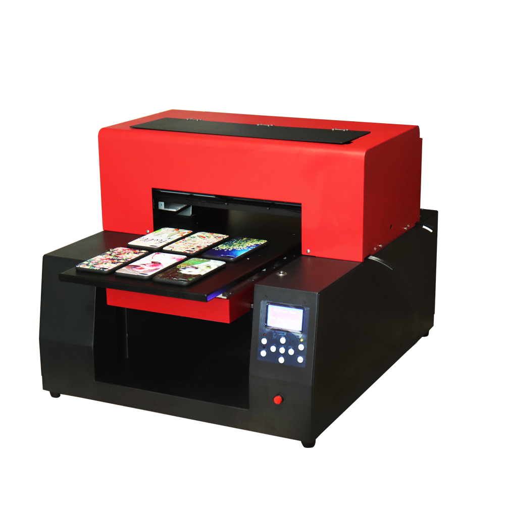 Digital A3 Size UV LED Flatbed Printer Automatic A3 UV Printer Factory Directly For Phone Case Glass Metal Bottle Emboss Effect 6 color a3 size uv printer phone case printer led uv flatbed printing machine r1390 a3 uv printer for phone case acrylic metal