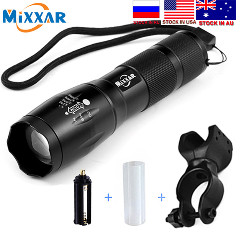 ZK30 Dropship Q250 TL360 T6 8000LM LED Bike Bicycle Flashlight Light Q5 3000LM Zoomable Focus Torch Lamp Light Tactical Lantern(China)
