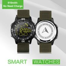 38mm relógio de Pulso Do Exército Ao Ar Livre Profissional À Prova D' Água Esporte Atividade Rastreador Pedômetro Bluetooth Relógio Inteligente 610 mAh Não Precisa Cobrar