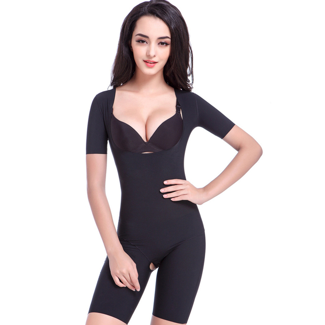 Postpartum Shapewear with Short sleeve Shapers Body sculpting clothing Women Slimming Intimates Plus size 4XL 1 Piece Bodysuit