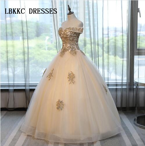 Champagne Quinceanera <font><b>Dresses</b></font> <font><b>Sweet</b></font> <font><b>16</b></font> <font><b>Dresses</b></font> For 15 Years Ball Gown Quinceanera Gowns Prom <font><b>Dresses</b></font> Vestido 15 Anos image