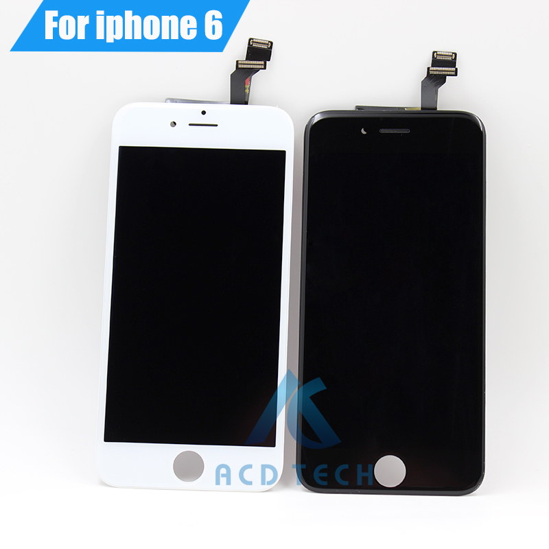 Grade AAA No Dead Pixel For iPhone 6  LCD Display With Touch Screen Digitizer Assembly Black&White Free Shipping 5pcs lot grade aaa no dead pixel for iphone 6 plus lcd display with touch screen digitizer assembly black