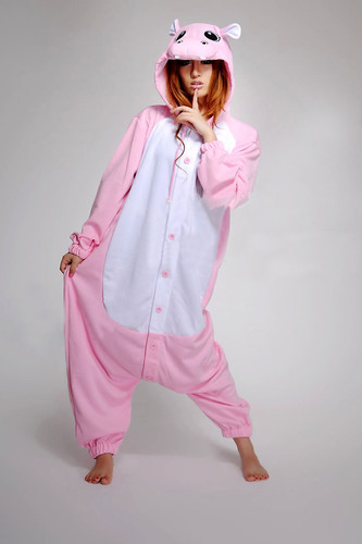 Free Shipping Women Lady Ladies Animal Pink Hippo Onesie for Adult Cos Pajamas Cosplay Costume Winter Spring Sleepwear S-XL