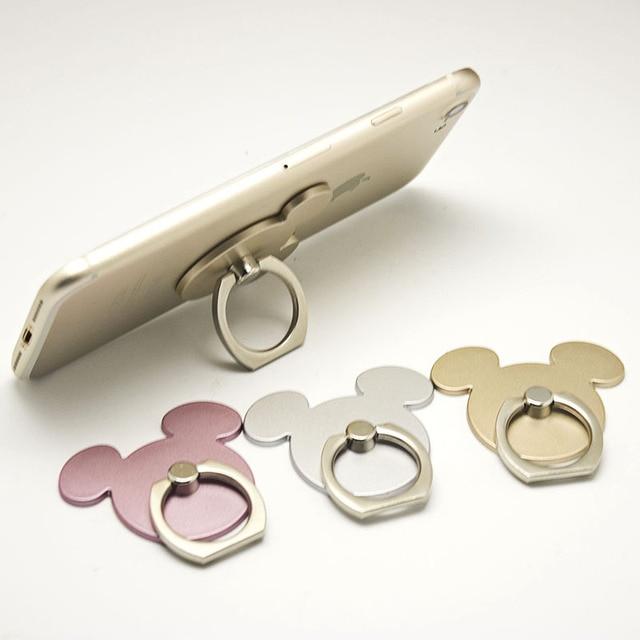 360 градусов палец кольцо Очаровательные комбинезоны с рисунком «Микки Маус» дизайн мобильный телефон с мультяшками смартфон подставка-держатель для всех телефонов класса люкс пару моделей