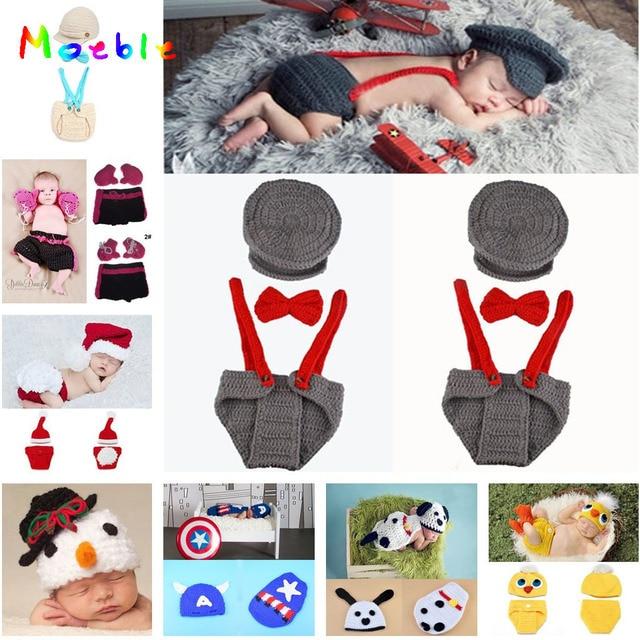 Ganchillo bebé sombrero pañal conjunto ganchillo del muchacho ...