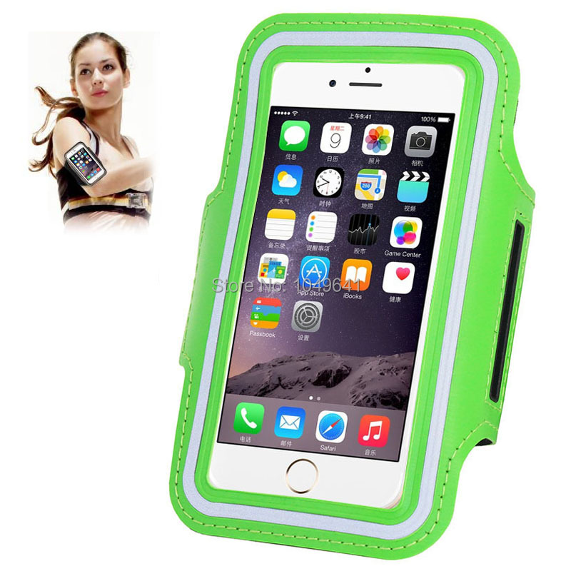 KIP6-1322E_1_Sport Armband Case with Earphone Hole & Key Pocket for iPhone 6 & 6S  HUAWEI Y3 II  ZTE Blade GF3  and Less than 4.7 inch Mobile Phone
