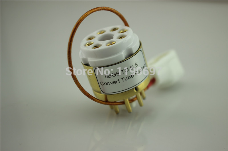 1Piece 6BG6 TO 6L6 Tube 8Pin TO 8Pin DIY Audio Vacuum Tube Adapter Socket Converter  Free Shipping