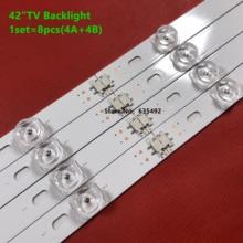 8PCS LED תאורה אחורית רצועת עבור 42GB6310 42LB6500 42LB5500 42LB550V 42LB561V 42LB570V 42LB580V 42LB585V 42LB5800 42LB580N 42LB5700