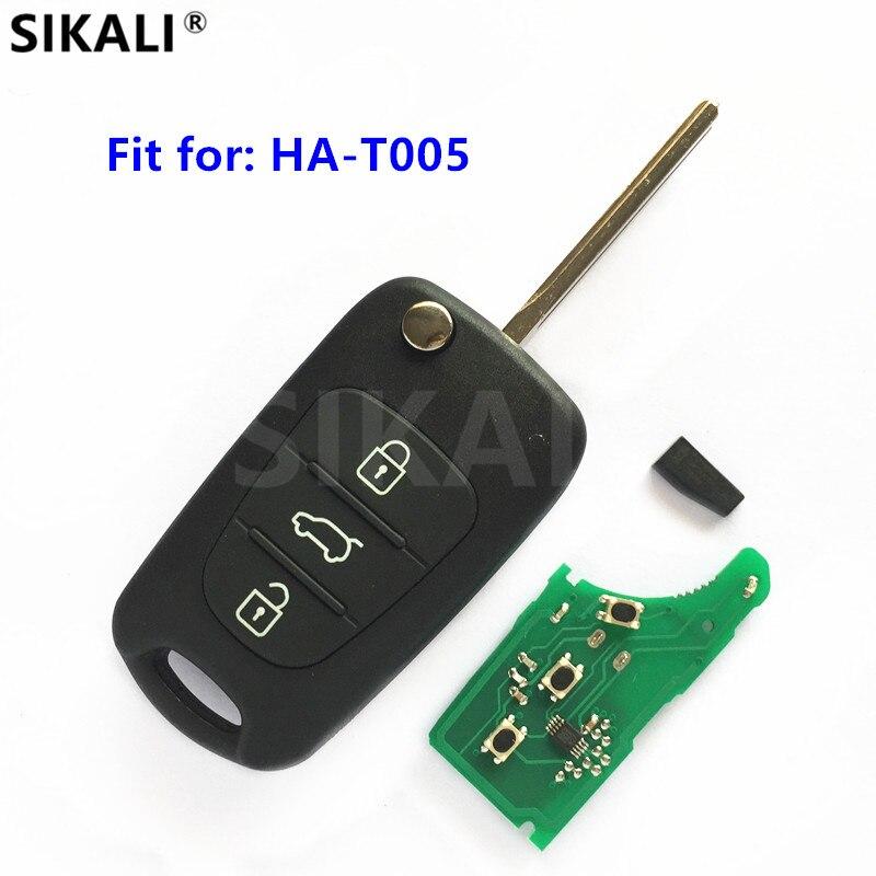 Fernschlüssel DIY für Hyundai Modell HA-T005 Auto Sender ASSY 433-EU-TP 433 MHz ID46 Chip CE 0678 CMIT