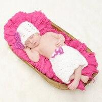 Pasgeboren Foto Props Baby Meisjes Jongens Haak Knit Kostuum Outfits Zuigeling Handgemaakte Acryl Foto Fotografie Prop