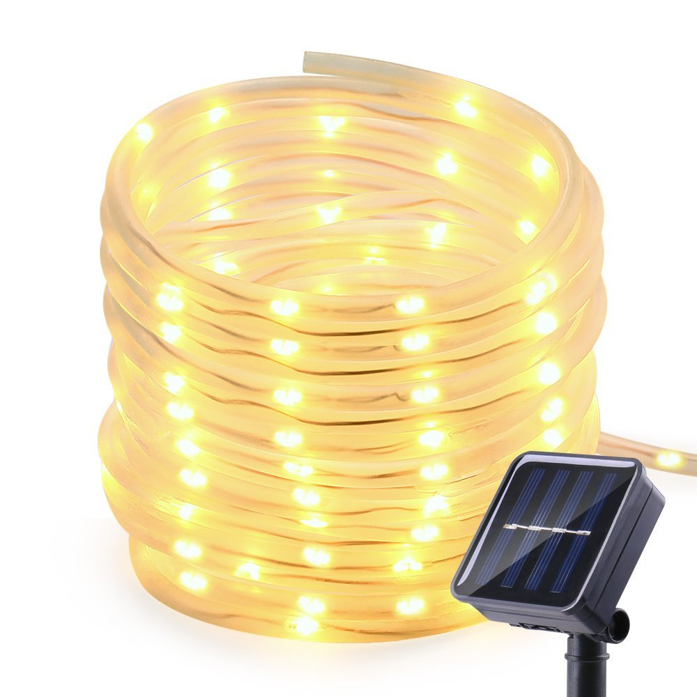 Lumiparty 10M Solar Rope Lights 100 LED Waterproof Outdoor ...