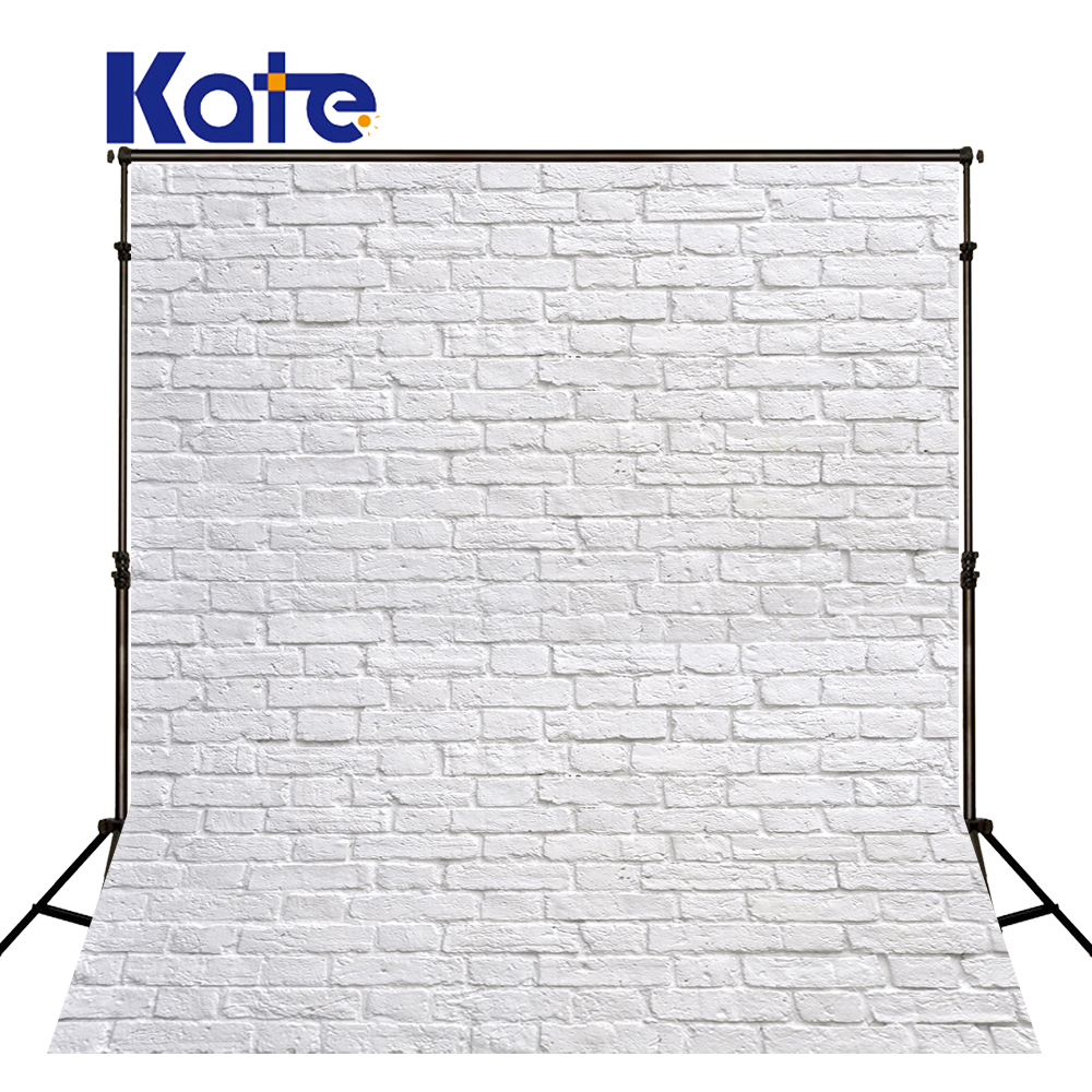 Kate 8x10ft  White Brick Wall  Backgrounds For Photo Studio For Children Photography Background Microfiber Baby Shower Backdrop shengyongbao 300cm 200cm vinyl custom photography backdrops brick wall theme photo studio props photography background brw 12