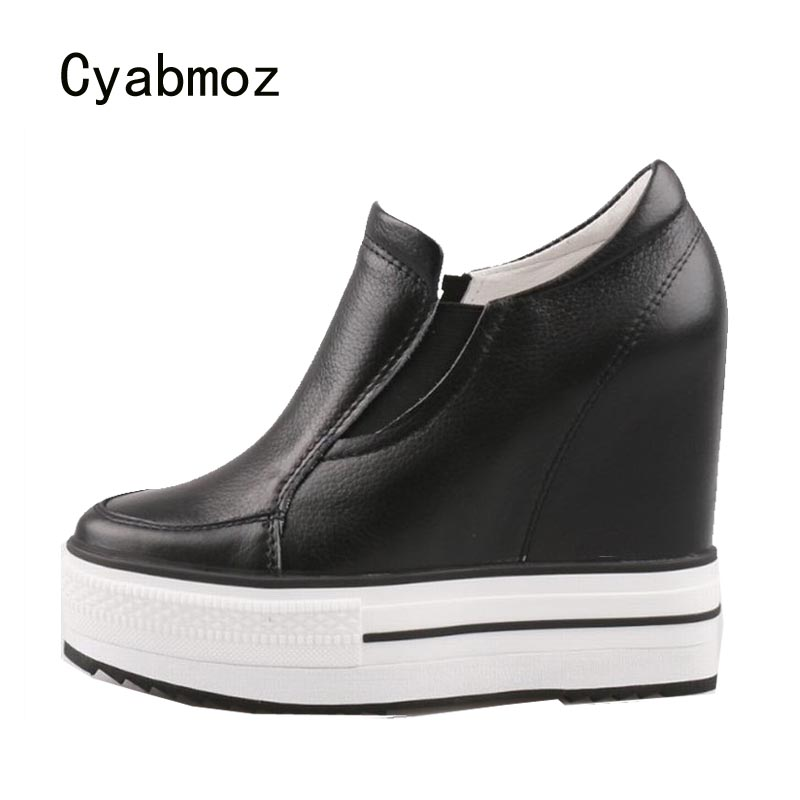 Cyabmoz Women Platform Genuine leather High heels height increasing Shoes Woman Pumps Zapatos mujer Tenis feminino Party ShoesCyabmoz Women Platform Genuine leather High heels height increasing Shoes Woman Pumps Zapatos mujer Tenis feminino Party Shoes